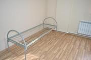 Кровать металлическая армейского образца.